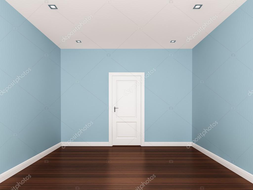 licht blauw, lege kamer, 3D-interieur — Stockfoto © yaryhee #50512559