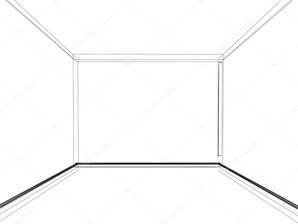 abstract sketch design of interior empty room stock photo yaryhee 51054655. Black Bedroom Furniture Sets. Home Design Ideas