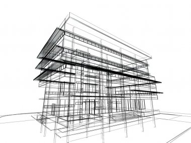 Sketch design of building
