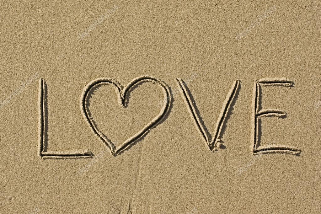 Eu Te Amo Escrito Na Areia Imagens De Stock Royalty Free: Fotografias De Stock © BlurAZ1