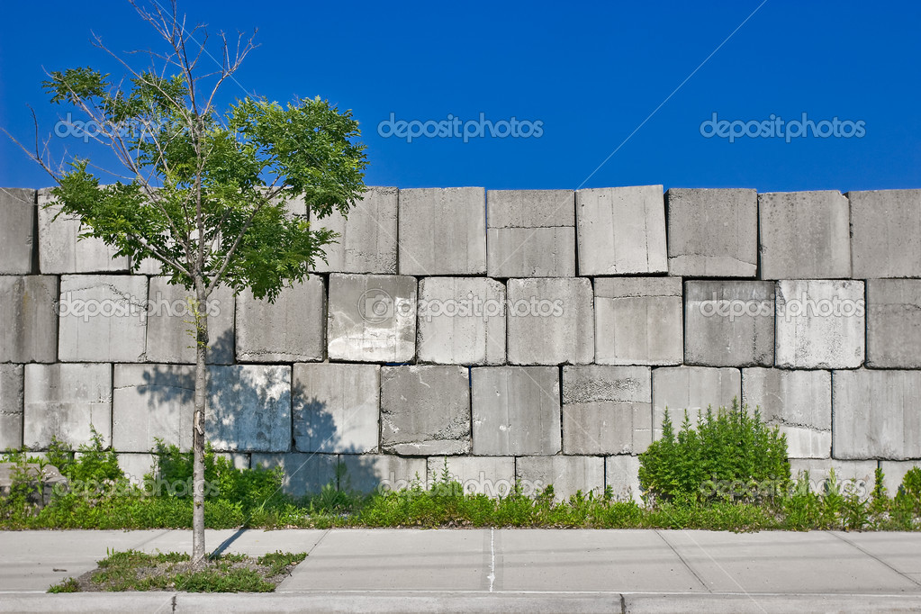 bloques de hormign de textura en el fondo del cielo azul u foto de bluraz