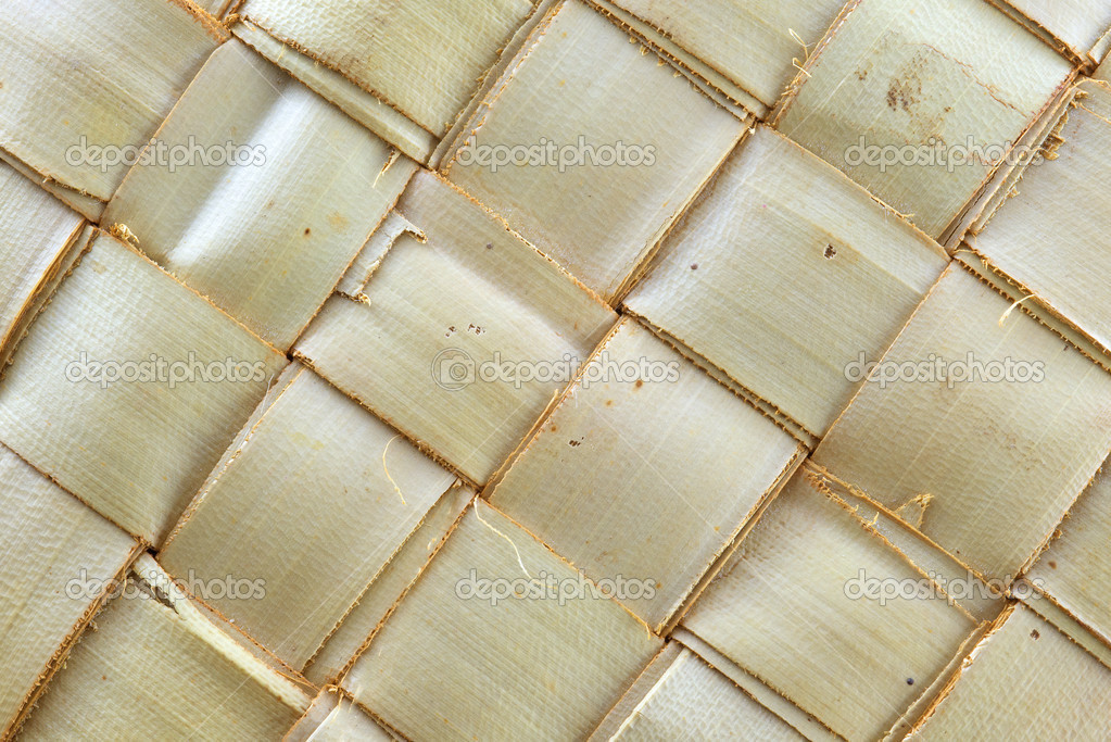 tejer patrón de hojas de Palma — Fotos de Stock © jakkapan #35631203