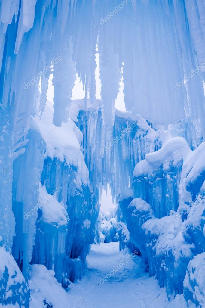 Ice Castles icicles and ice formations