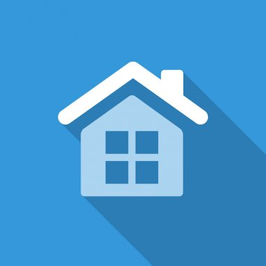 flat house icon background