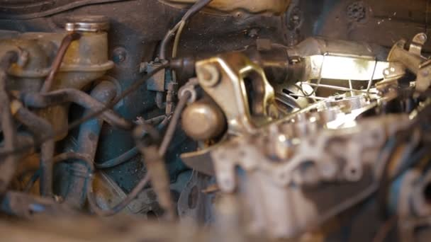 Close-up: Motor Car Engine