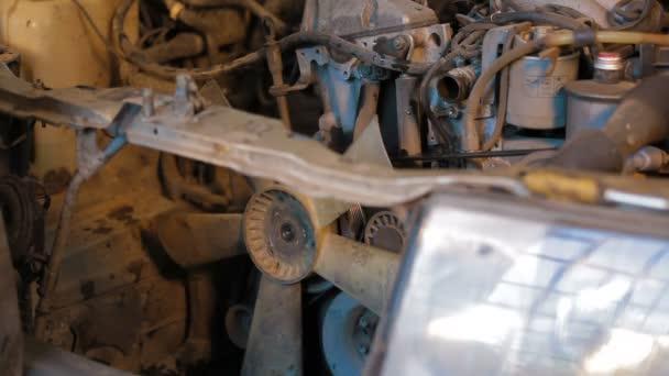 Car repairing. Auto Repair Shop. Disassembling
