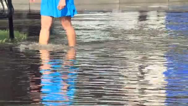 záplavy v ulicích města