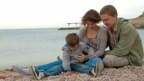 Family enjoying time together at the seaside.