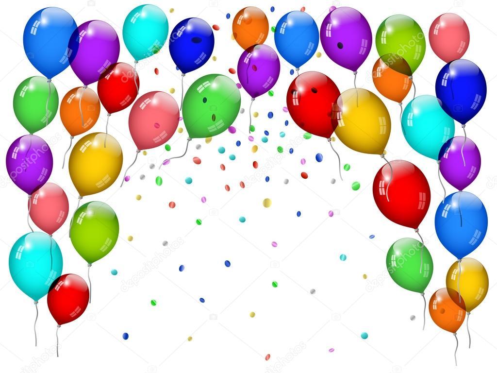 Party Balloons Stock Vector