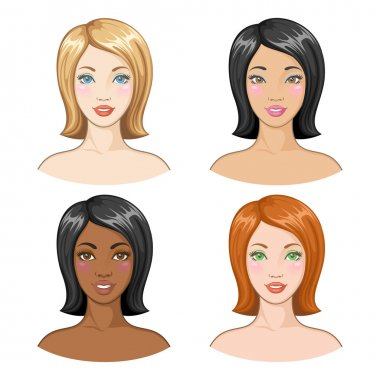 Vector illustration of beautiful women