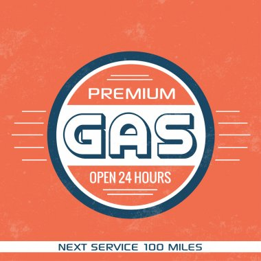Vintage Gasoline Sign - Retro Template