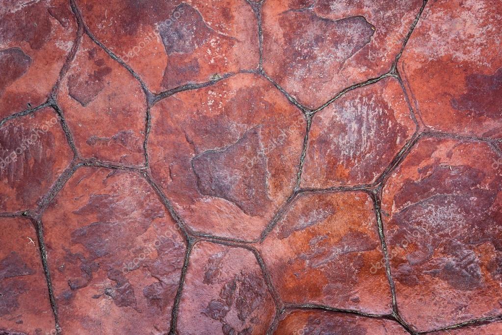 Azulejos de piedra roja textura de suelo foto de stock - Suelo de piedra ...