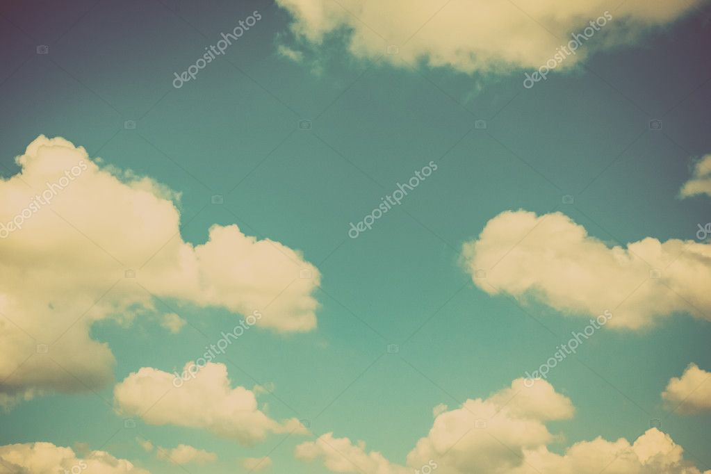 Blue sky vintage background