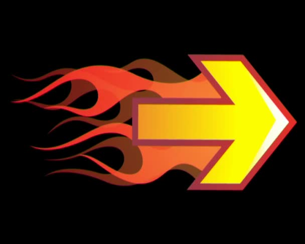 Arrow with flames
