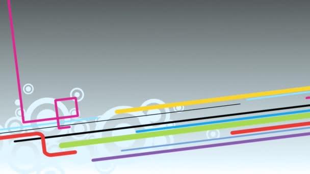 šedé pozadí abstraktní s barevnými čáry a kruhy smyčka