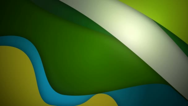Coloured green background with moving curved lines