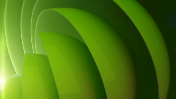 Abstract green background with spherical circles in motion