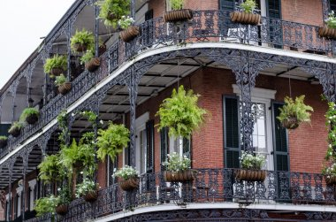 House with balcony, New Orleans