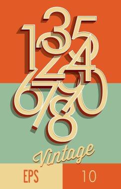 Numbers retro style