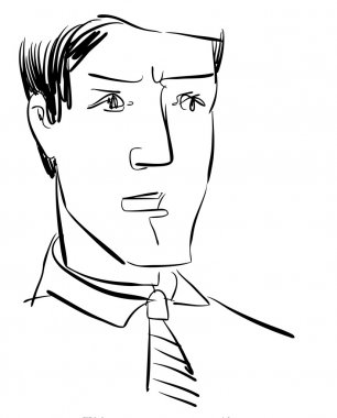 Sketch of Man Character