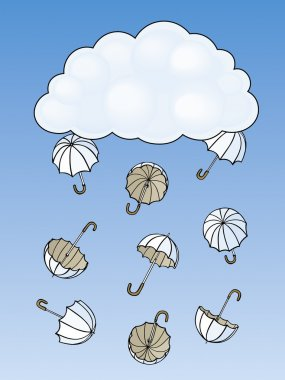 Umbrella drop out from a cloud
