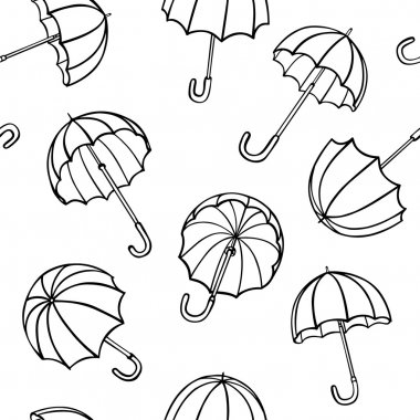 Vector seamless pattern from umbrellas