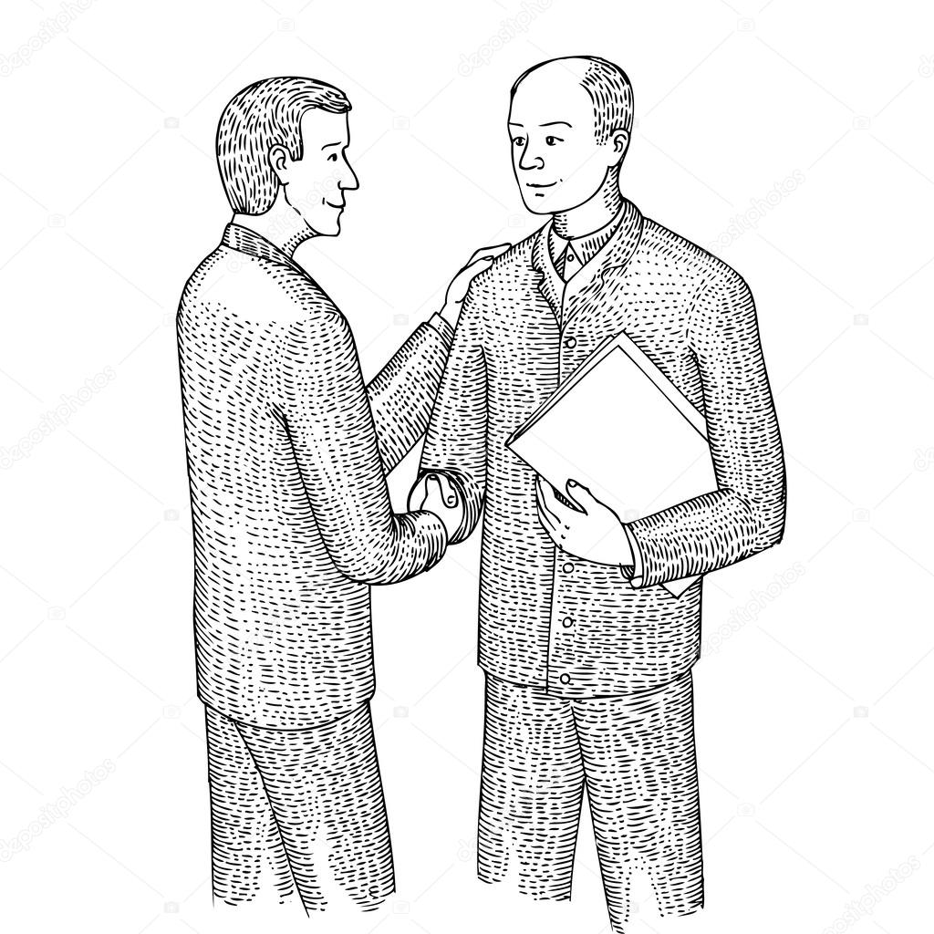 Discussion of two men