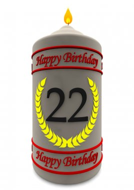 birthday candle for 22th birthday