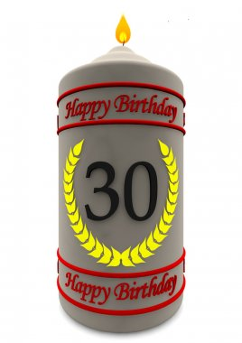 birthday candle for 30th birthday
