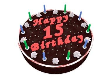 chocolate cake for 15th birthday