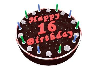 chocolate cake for 16th birthday
