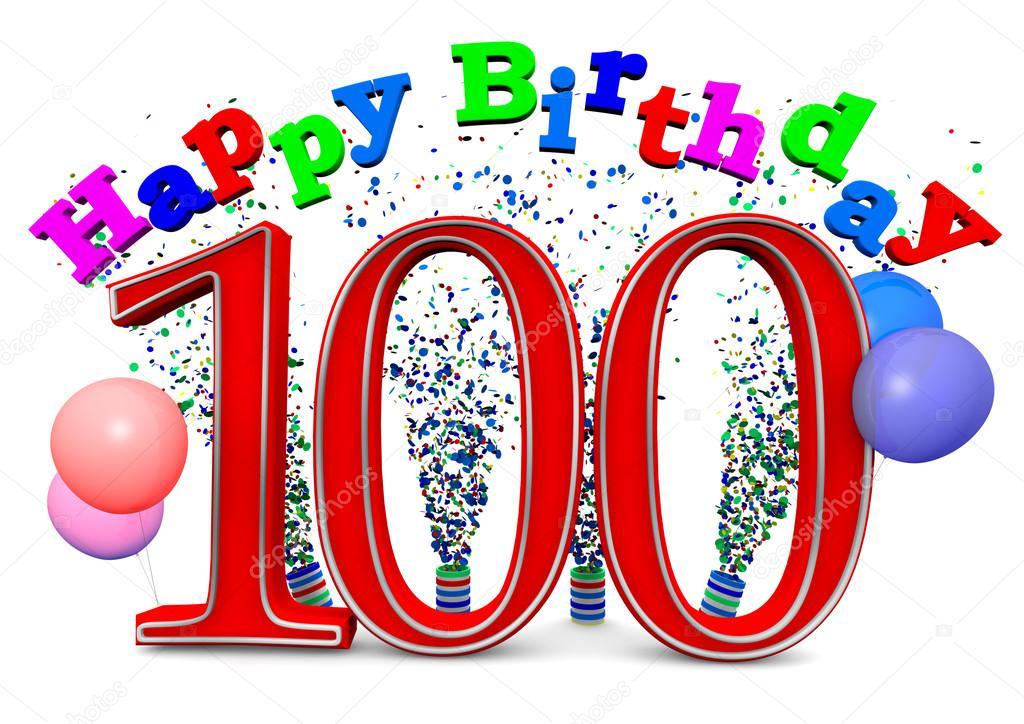 Gelukkige 100ste Verjaardag Stockfoto C Jonaswolff 33680747