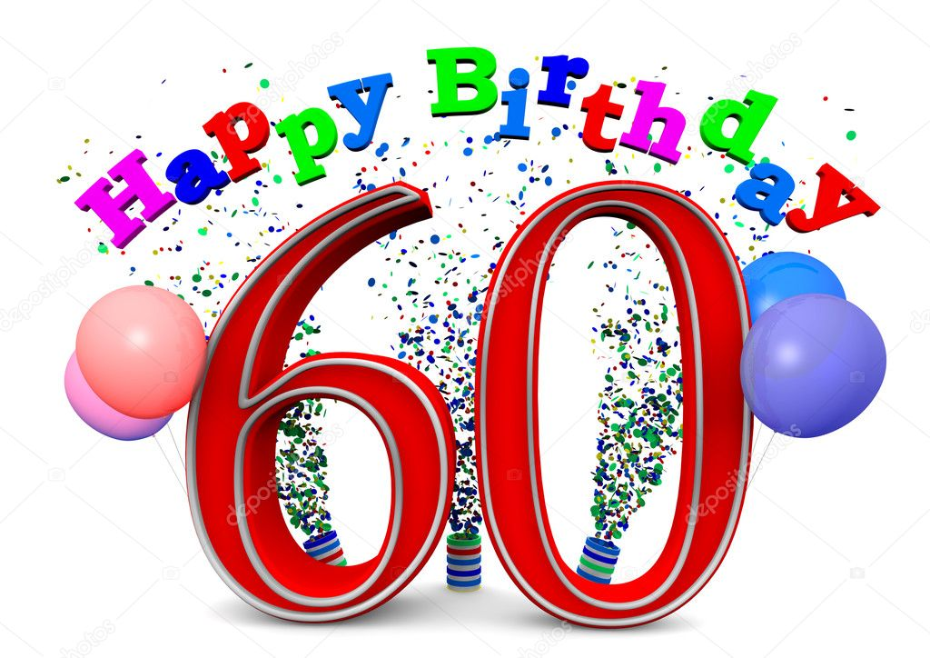 Happy 60th Birthday Stock Photo