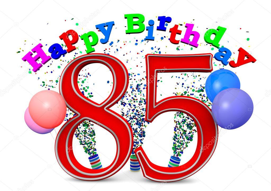 Happy 85th Birthday Stock Photo