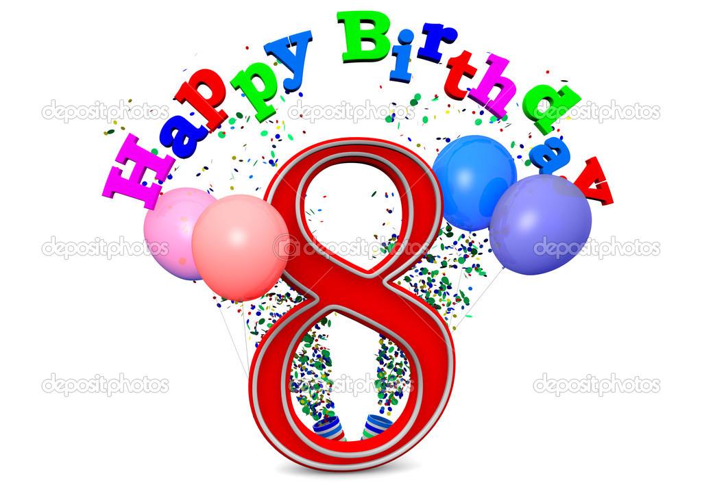 happy 8th birthday stock photo jonaswolff 33682041