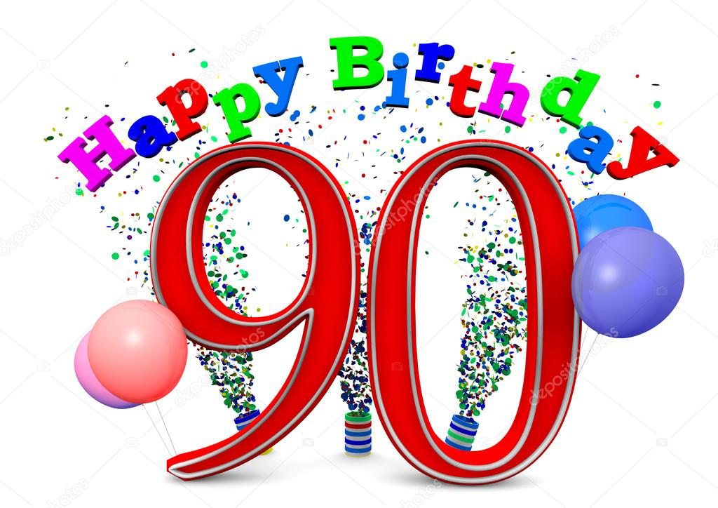 Happy 90th Birthday Stock Photo