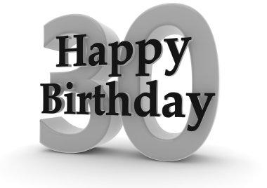 Happy Birthday for 30th birthday
