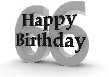 Happy Birthday for 66th birthday