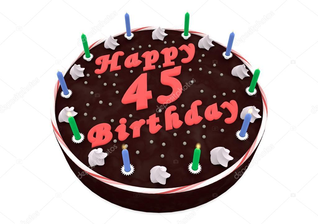 dort k 45 narozeninám čokoládový dort pro 45 narozeniny — Stock Fotografie © jonaswolff  dort k 45 narozeninám