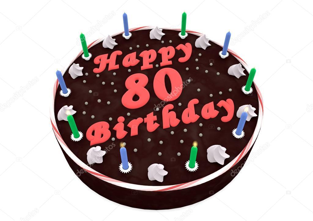 chocolate cake for 80th birthday stock photo jonaswolff 33690831