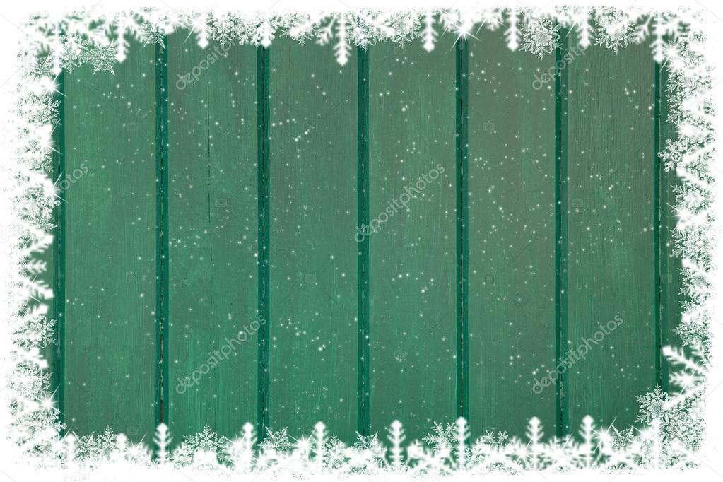 Green wooden christmas wall
