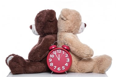 Teddy bears back to back - time to change