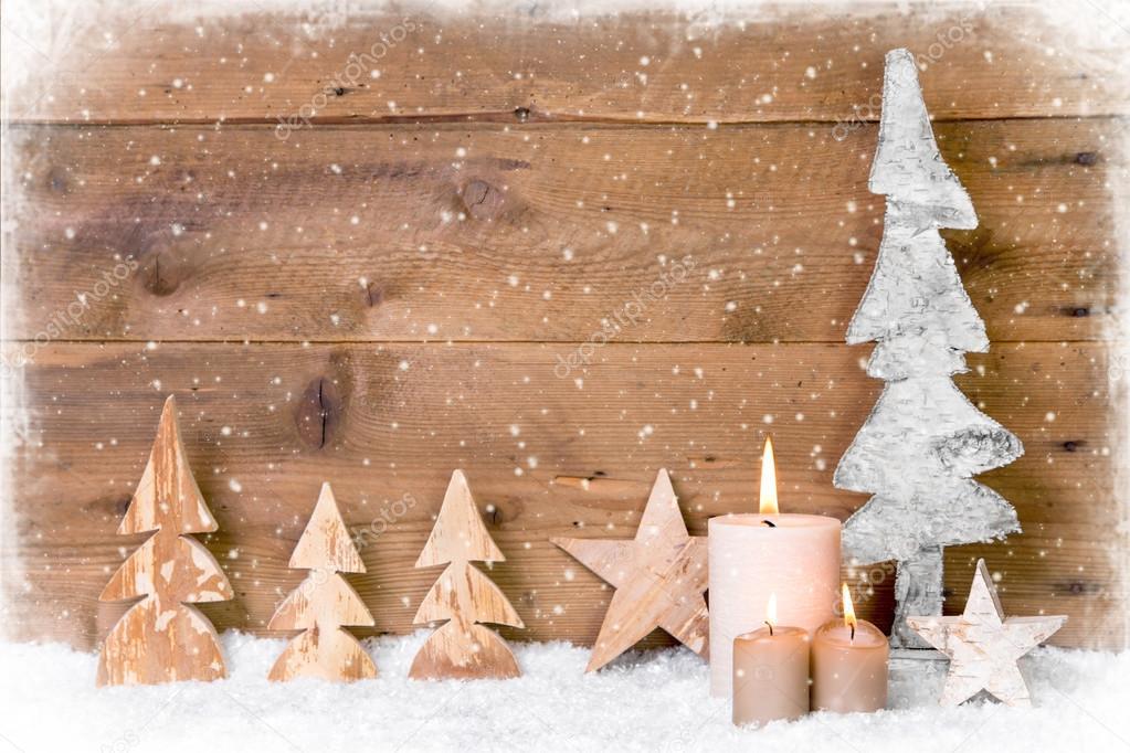 Decorazioni In Legno Per Albero Di Natale : Decorazione di alberi di natale in legno u2014 foto stock © jeanette