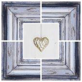 Photo Heart in shabby frame