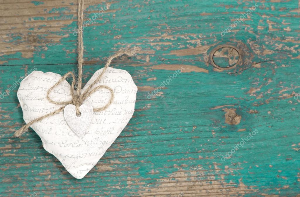 White paper heart