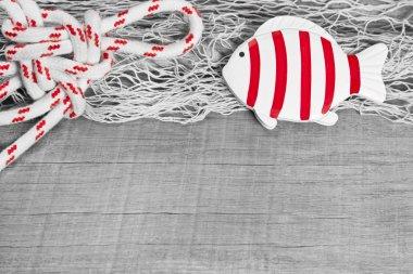 Fish and nautical rope