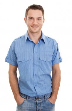 "Картина, постер, плакат, фотообои ""молодой человек в рубашке "", артикул 35736165"