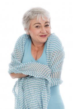 Mature woman feels comfortable