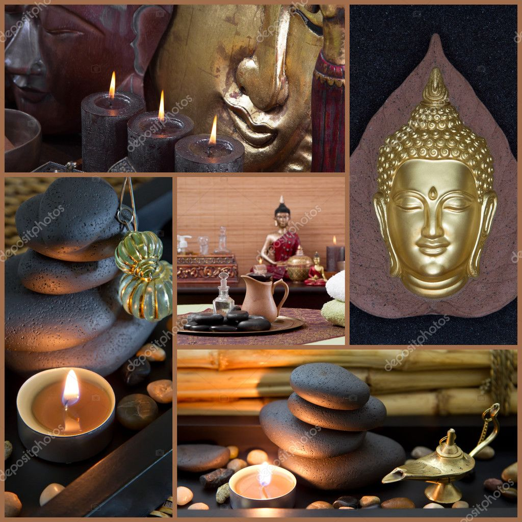 Spa decoration with Buddha — Stock Photo © Jeanette.Dietl #37426085