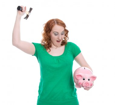 Woman plunders piggy bank